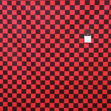 Luella Doss PWLD034 Fowl Play Large Check Red Cotton Fabric By The Yard