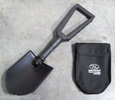 NEW - Black Folding Shovel / Entrenching Tool with Carry Pouch