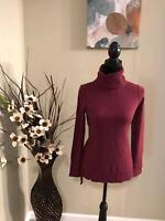 Antonio Melani Womens Size S 100% Cashmere Red Sweater $129+tax