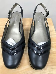 BNWB HOTTER CLAUDIA Navy Slingback Leather Heeled Shoes @ Size UK 6.5 NEW Sandal