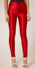 American Apparel High Waisted Shiney Red Disco Pants Leggings