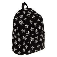 Black & White Bleeding Heart Skull & Bones Gothic Backpack Rucksack School Bag