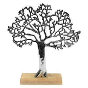 Tree of Life On Wooden Base Ornament Sculpture Statue Antique Display Home Decor