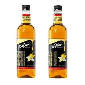 Davinci Gourmet Classic French Vanilla Beverage Syrup 750 Ml Delicious - 2 Pack