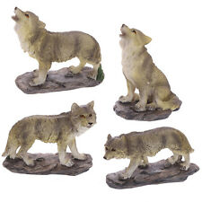 SET OF FOUR WOLF ORNAMENTS - WOLVES - GIFT - FIGURINES - CHRISTMAS - WOLVES