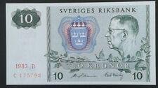 SWEDEN _10 kronor  Baknote _ 1983 _ UNC