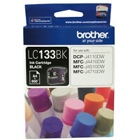 GENUINE Brother LC133 BLACK Ink J4110DW J4410DW J4510DW J4710DW LC133BK