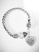 Charm Bracelet The Love Between Father And Daughter Is Forever Daddy's Girl Gift