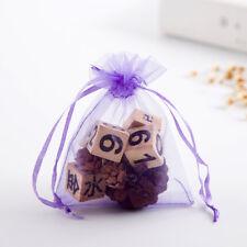 100Pcs Organza Wedding Party Favor Decor Gift Candy Sheer Bags Pouches