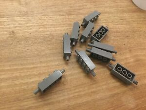 10 x LEGO 6249 BRICK 2 X 4 WITH PINS DARK BLUISH GREY - Free p & p
