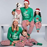 Winter Family Christmas Pajamas Set Xmas Matching Pyjamas Adult Kids Sleepwear
