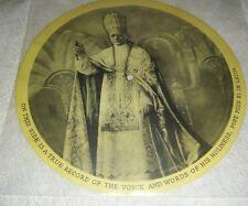 Pope Pius XI 1931 78 picture disc Catholic religion artifact in Latin & English