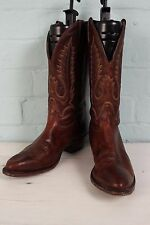 Vintage LEATHER Western COWBOY Rockabilly Biker Ranch Riding Country Boots UK 9