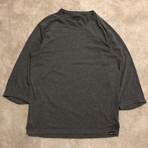 Patagonia Nine Trails Bike Jersey 3/4 Sleeve Polyester Tee Shirt Medium