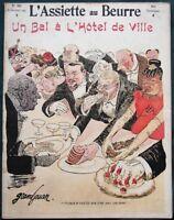 L'Assiette au Beurre #203 The Rich at a Ball French Satire Jules Grandjouan Art