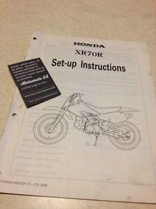 Honda XR70R XR70 R XR 70 Instrucciones Desde Preparación Set - Hasta
