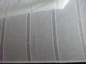 Meterware Gardinenstoff Vorhang Stoff transparent Höhe 280 cm,naturweiß, neu