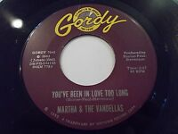 Martha & The Vandellas You've Been In Love Too Long 45 1965 Gordy Vinyl Record