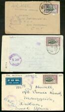 Ceylon 1944, three covers/50c Elephants/FPO/censor