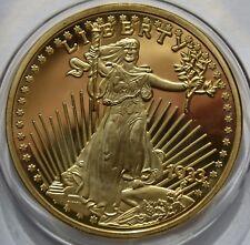 Fantasy, Walking Liberty Eagle 1933, German Mint Restrike in copper 2002 COA