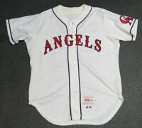 1996 Troy Percival California Angels Game Used Worn Baseball Jersey Los Angeles