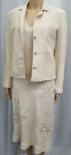 PATSY SEDDON FOR PHASE EIGHT ** SIZE 12 DRESS 10 JACKET ** BEIGE  OUTFIT
