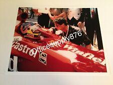 Canadian Race Car Driver JACQUES VILLENEUVE & SYLVESTER STALLONE 8.5x11 Candid