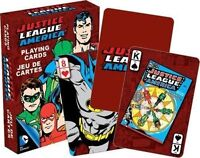 JUSTICE LEAGUE OF AMERICA RETRO - PLAYING CARD DECK - 52 CARDS NEW - 52301