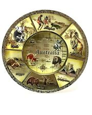 Australia Souvenir Premium Quality Metal Plate w Stand/ Hanging in Box Gift Set