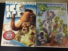 Ice Age And Planet 51 DVD Children's Movie Lot Of 2