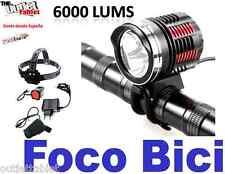 FOCO Bici Triple LED 6000LM LINTERNA PARA BICICLETA SENDERISMO 3 x CREE XM-L U2