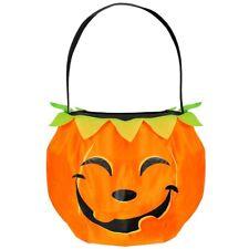 Kürbis BETTELTASCHE Halloween Sammelbeutel Süßes oder Saures Beutel Kinder Party