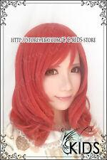LOVE LIVE Nishikino Maki Cosplay wig costume orange colour short