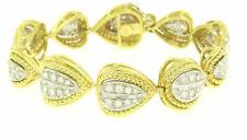Estate SABBADINI 18k Two Tone Gold 3.32ctw Ideal Diamond Earring & Bracelet Set