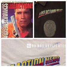 ARNOLD SCHWARZENEGGER LAST ACTION HERO Signed T-Shirt W/ JACKET & 2 Laser Discs