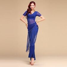 Belly Dance Blouse Top Pants Trousers Outfit Set Yoga Practice Clothing Costume