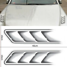 1Pair 40cm 3D Fake Vents Stickers Car Hood Simulation Outlet Decal Waterproof