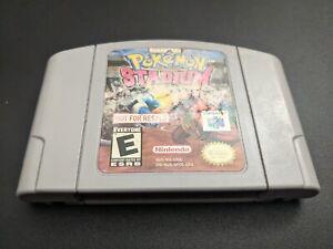 Pokemon Stadium 1 No Para Reventa Nfr Nintendo 64 N64 Auténtico Ex Cond Cartucho