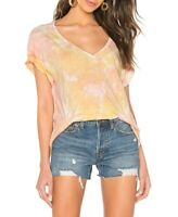 Free People Womens All Mine OB948619 Top Relaxed Berry Orange Size XS