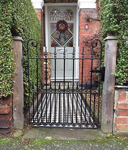 Wrought Iron Single Gate, fabricated gate, ornate gate, garden gate top quality