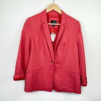 The Limited Red Button Front Long Sleeve Blazer Jacket Women's Size Medium M
