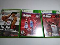 Xbox 360 Basketball Sports Lot: NCAA March Madness 07 NBA 2k13 2k14 2013 2014