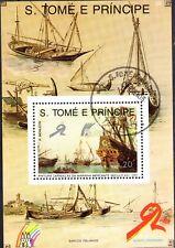 0471+ BLOC S.TOME E PRINCIPE BATEAU  CARAVELLE N°4