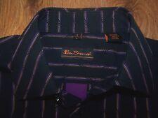 Ben Sherman Long Sleeve Button Front Multicolor Stripe Shirt Mens Size 3 Large