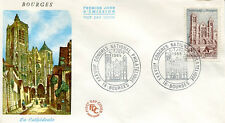 FRANCE 1965 - FDC 1453 1 CATHEDRALE DE BOURGES CONGRES NATIONAL - pn2
