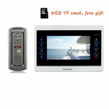 """720P AHD HD 7"""" Screen Video Intercom Door Phone Unlock Kit Record Monitor 8G SD"""