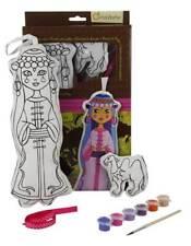 Puppe Assiba und Kamel aus Stoff zum Bemalen mit Farben Pinsel, Stoffpuppe 30 cm