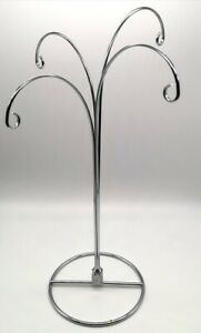 Fountain Tree Table Display 4 Loop Hook Stand Suncatchers Necklaces etc SILVER
