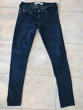 Womens Hollister Size 3R Oceanside Super Skinny W21 L31 Dark Wash Stretch Jeans