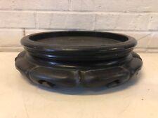 Vintage Antique Asian Carved Wooden Round Shaped Vase Stand